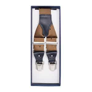 Beige Spotted Silk Jaquard Suspenders