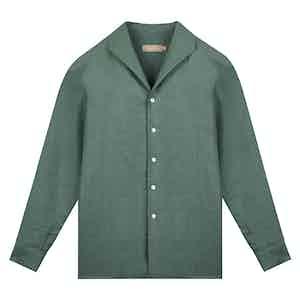 Vintage Teal Beau Irish Linen Shirt