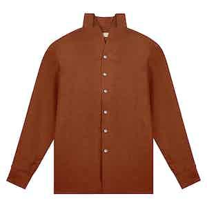 Burnt Orange Summer Wool Byron Shirt