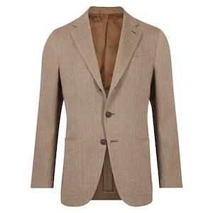 Mid Beige Herringbone Jacket