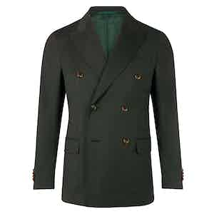 Dark Green Double Breasted Jacket