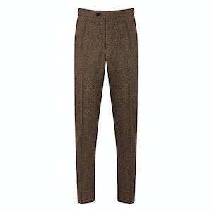 Dark Brown Houndstooth Trousers