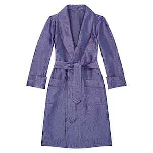 Magenta Maze Unlined Silk Dressing Gown