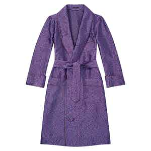 Magenta Maze Unlined Silk Dressing Gown