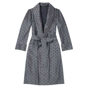 Silver Shell Unlined Silk Dressing Gown