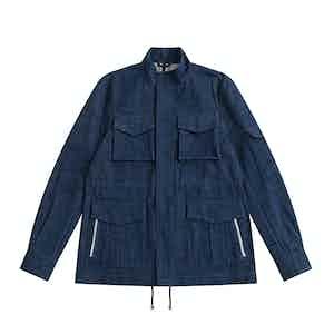 Indigo Japanese Denim De Niro M65 Field Jacket