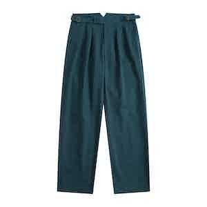 Cornflower Blue Four Season Cotton Gurkha Pants