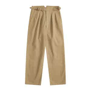 Khaki Tan Four Season Cotton Gurkha Pants