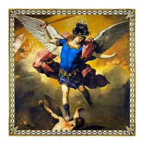 The Fall of the Rebel Angels by Giordano Silk Pocket Square