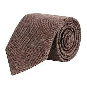 Hazel Glen Check Super Fine Merino Wool Tie
