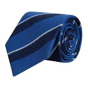 Royal Blue & Navy Sporting Striped Tie