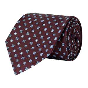 Burgundy Floral Repeat Silk Tie