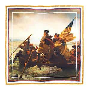 Washington Crossing the Delaware Silk Pocket Square