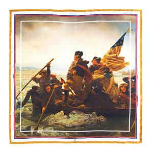 Washington Crossing the Delaware Silk Pocket Square