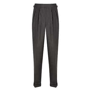 Mid-Grey Salt & Pepper VBC Flannel Aleksandar Trousers