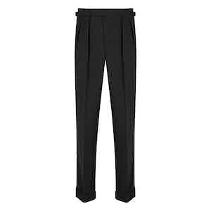 Charcoal Glencheck 4-Ply VBC Tropical Wool Aleksandar Trousers
