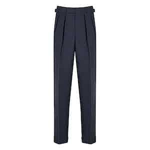 Slate Blue 4-Ply VBC Tropical Wool Aleksandar Trousers