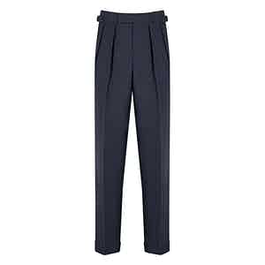 Slate Blue 4-Ply VBC Tropical Wool Aleksandar Trousers