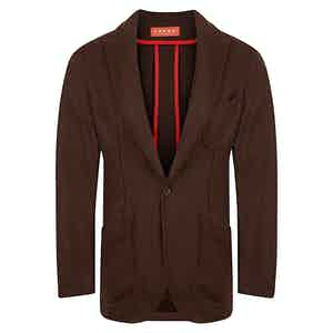 Chocolate Brown Wool Barchetta Jacket