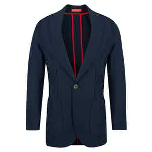Blue English Wool Trevira Barchetta Jacket