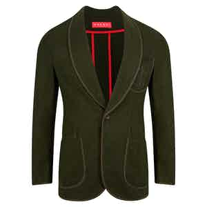 Olive Green Loden Club Jacket