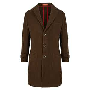 Chocolate Casentino Barchetta Coat