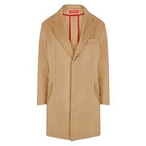Camel Cashmere Sack Coat