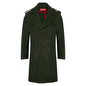 Green Loden Impermeabile Coat