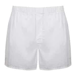 White and Red 200 Cotton Boxer Shorts