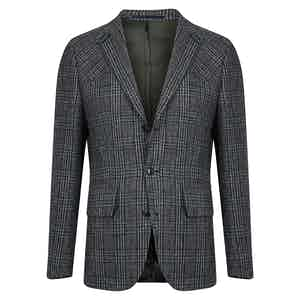 Navy Hemmingway Tweed Shooting Jacket
