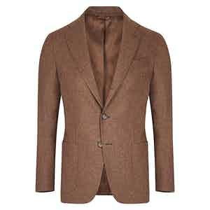 Brown Wool and Cashmere Jacket