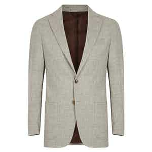 Light Grey Wool and Cashmere Jacket