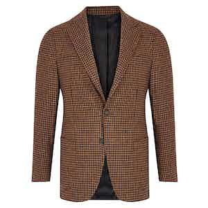 Light Brown Houndstooth Jacket
