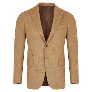 Light Brown Herringbone Jacket