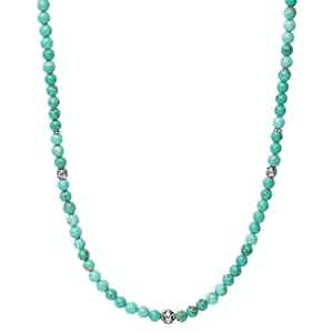 Beaded Necklace with Turquoise and Silver