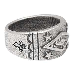 Engraved Vintage Sterling Silver Ring
