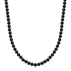 Beaded Matte Onyx Necklace