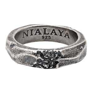 Carved Vintage Silver Ring