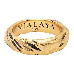 Carved Vintage Gold Ring