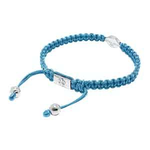 Light Blue String Bracelet with Gold Evil Eye