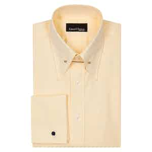 Yellow Pin Collar Cotton Poplin Shirt