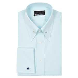 Green Micro Check Cotton Poplin Shirt