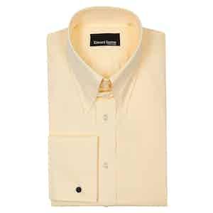 Yellow Tab Collar Cotton Poplin Shirt