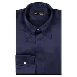 Navy Point Collar Shirt