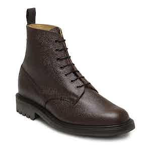 Walnut Grain Leather Kelso Derby Boot