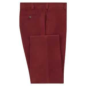 Burgundy Moleskin Trousers
