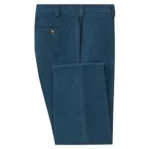 Teal Moleskin Trousers