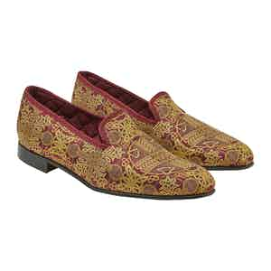 Burgundy Rococco Slippers