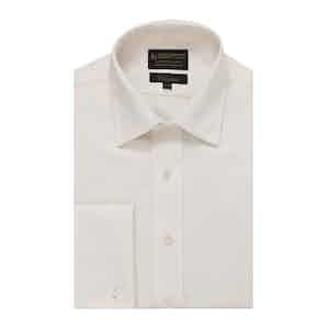Ivory Sandwashed Silk Classic Fit Shirt