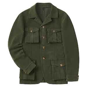 Green Moleskin Four Pocket Jacket